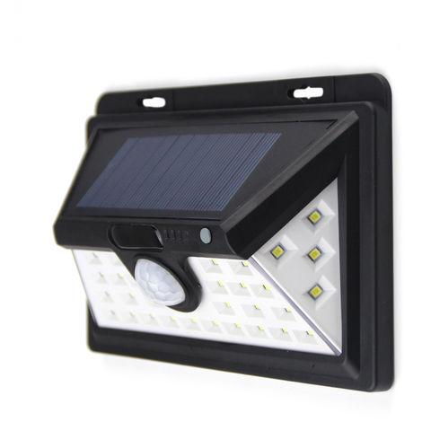 Lampara de pared de 34 LED 6W Solar, sensor de movimiento PIR