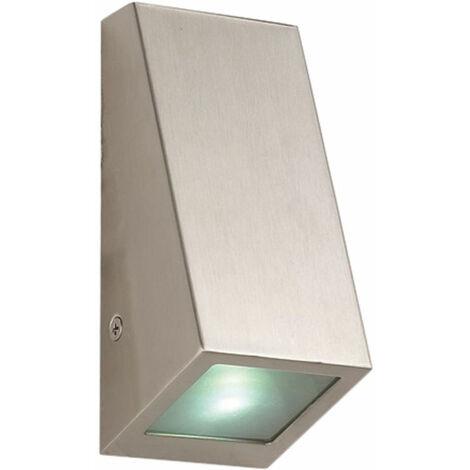 Lámpara de pared de acero inoxidable iluminación de jardín plateada focos de fachada exterior luz de patio en un juego que incluye bombillas LED