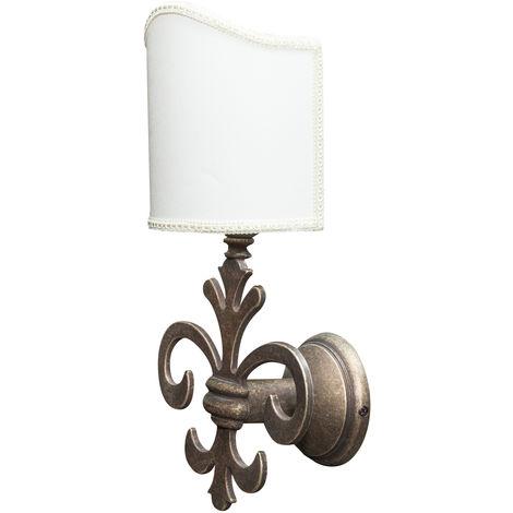 Lámpara de pared, de estilo florentino en moldeo de latón envejecido L21XPR17XH38 cm Made in Italy