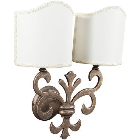 Lámpara de pared, de estilo florentino en moldeo de latón envejecido L33XPR17XH40 cm Made in Italy