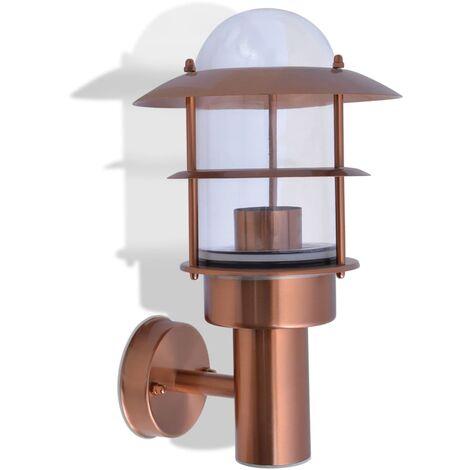 Lámpara de pared de exterior de acero inoxidable color cobre