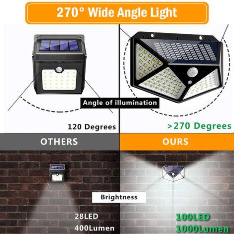 Lampara de pared de exterior para jardín y patio Lámpara solar LED para patio trasero Jardín Calzada