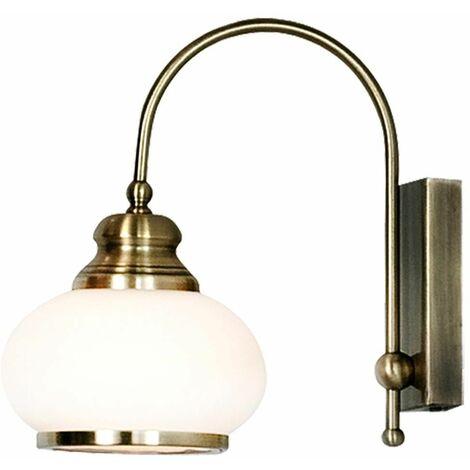 Lámpara de pared de latón antiguo estilo antiguo sala de trabajo iluminación de la lámpara de cristal Globo 6900-1W