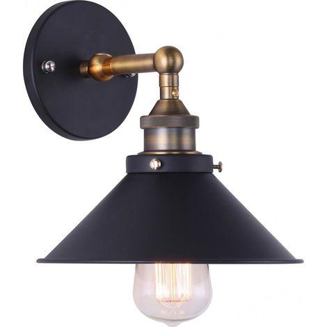 Lámpara de pared Edison 164 – Aluminio Negro