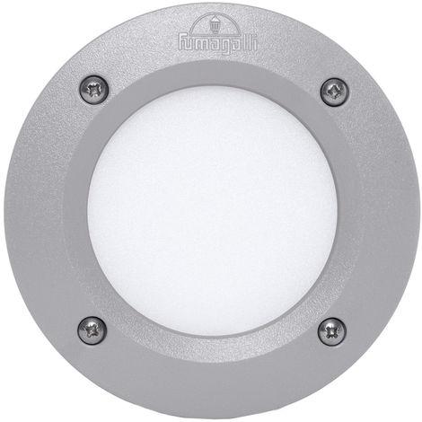 Lámpara de Pared Empotrada para Exterior Fumagalli Leti 100 Gris GX53 LED 3W Blanco Cálido Emily   Blanco Cálido (2C1.000.000.LYG1R)