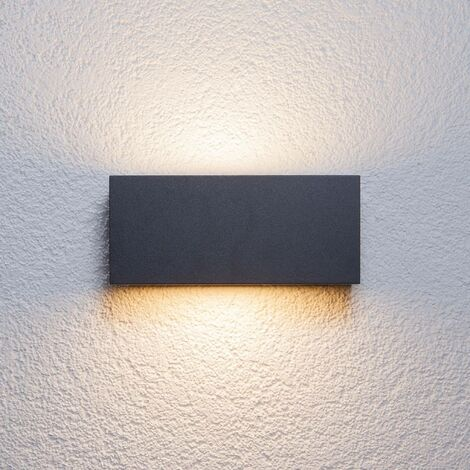 Lámpara de pared exterior 'Bente' en Negro hecho de Aluminio (1 llama, E27, A++) de Lucande | lámparas de pared para exterior aplique, lámpara LED para exterior, aplique para pared exterior/fachada