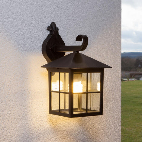 Lámpara de pared exterior 'IDA' en Transparente hecho de Aluminio (1 llama, E27, A++) de Lindby | lámparas de pared para exterior aplique, lámpara LED para exterior, aplique para pared