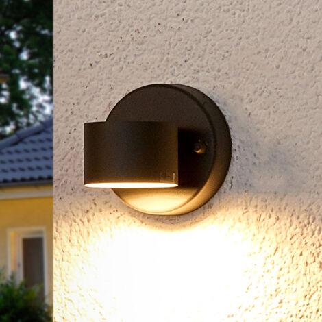 Lámpara de pared exterior LED gris grafito Lexi