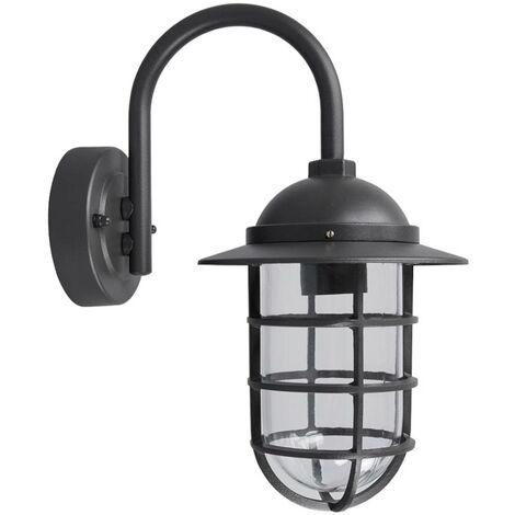 Lámpara de pared exterior 'Naila' en Gris hecho de Aluminio (1 llama, E27, A++) de Lindby | lámparas de pared para exterior aplique, lámpara LED para exterior, aplique para pared exterior/fachada