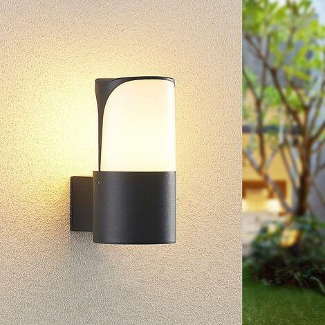 Lámpara de pared exterior 'Paikea' (Moderno) en Negro hecho de Aluminio (1 llama, E27, A+) de Lucande   lámparas de pared para exterior aplique, lámpara LED para exterior, aplique para pared