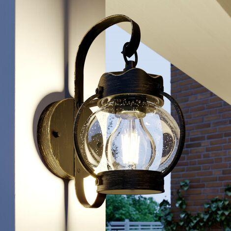 Lámpara de pared exterior 'Stefania' en Marrón hecho de Aluminio (1 llama, E27, A++) de Lindby | lámparas de pared para exterior aplique, lámpara LED para exterior, aplique para pared