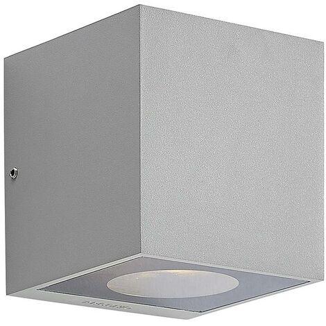 Lámpara de pared exterior 'Tassnim' (Moderno) en Gris hecho de Aluminio (1 llama, GX53, A++) de Arcchio   lámparas de pared para exterior aplique, lámpara LED para exterior, aplique para pared