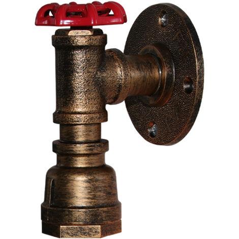 Lámpara de Pared Industrial Vintage Luz de Pared de Metal Rústico Aplique de Pared Interior Retro para Pasillo Pasillo Mesita de Noche Oxido