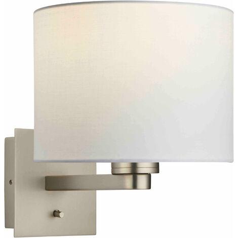 lámpara de pared Issac cilindro en acero, 60W