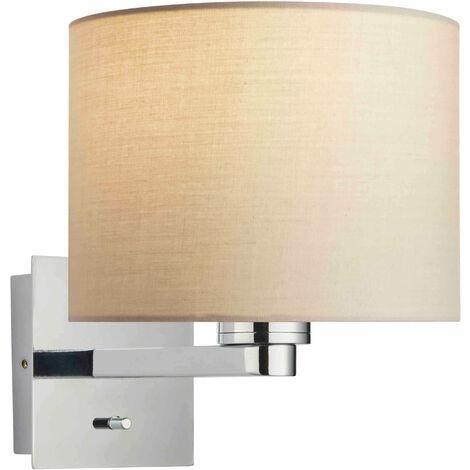 lámpara de pared Issac cilindro en acero, placa de cromo
