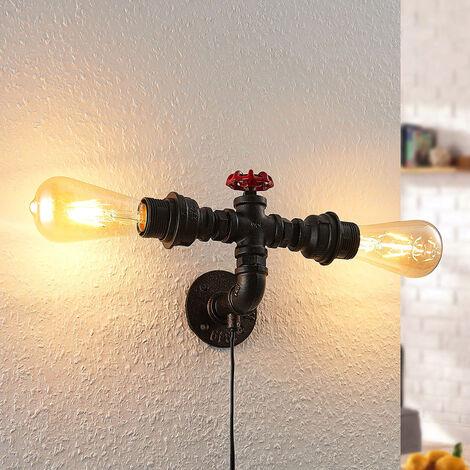 Lámpara de pared Josip, 2 brazos emisión lateral