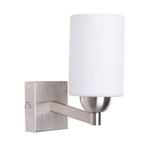 Lampara de Pared Kamelya Apliques - Cilindrica - Cromo en Vidrio, Metal, 10 x 15 x 22 cm, 1 x E27, Max 40W