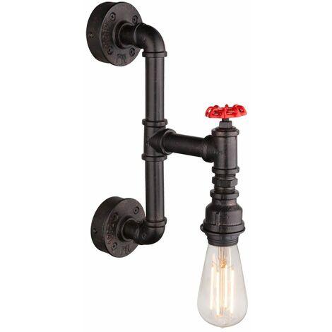 lámpara de pared lámpara retro tubo de diseño industrial grifo de oro negro Globo 43000W1