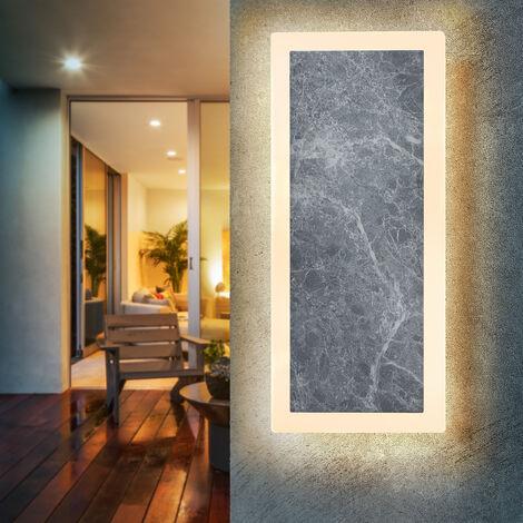 Lámpara de pared LED con aspecto de mármol para exteriores Esotec 201204