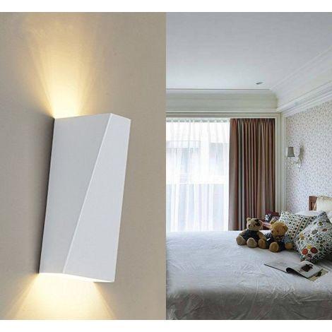 Lámpara de pared LED de Hierro Moderno Minimalista Aplique (Blanco)Forma Cuboide Irregular Creativo Ajustable Diseno 10w para Cocina Restaurante pasillo Entrada