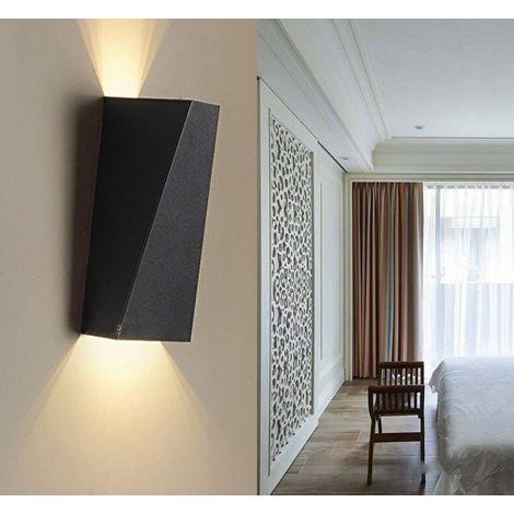Lámpara de pared LED de Hierro Moderno Minimalista Aplique (Negro)Forma Cuboide Irregular Creativo Ajustable Diseno 10w para Cocina Restaurante pasillo Entrada