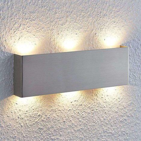 Lámpara de pared LED Manon níquel satinado 35 cm