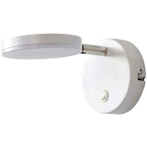 Lámpara de pared LED Milow con interruptor, blanco