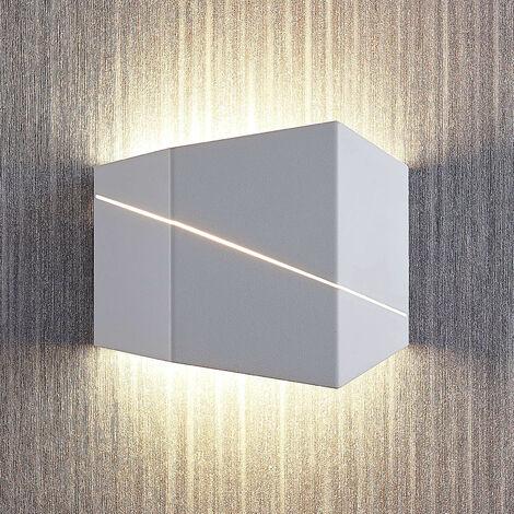 Lámpara de pared LED Nikolae, 18 cm, blanco