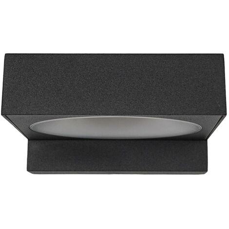 Lámpara de pared LED para baño Natalja, negro