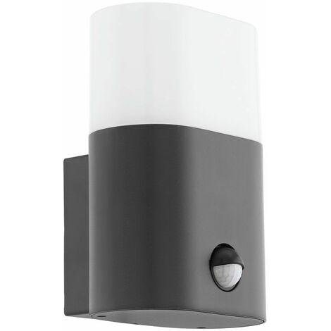 Lámpara de pared LED para exteriores iluminación de jardín detector de movimiento luz de patio aluminio antracita Eglo 97316