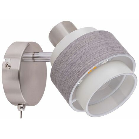 Lámpara de pared LED RGB inteligente, punto móvil, gris, beige, aplicación de voz REGULABLE controlable por teléfono móvil