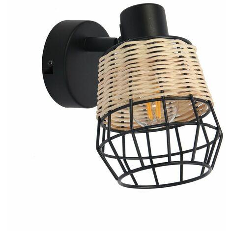Lámpara de pared LOFT NATURAL Iluminación interior creativa Lámpara de hierro de 40W para sala de estar / dormitorio / comedor Blanco cálido Estilo contemporáneo y retro