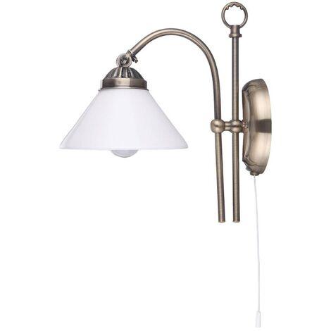 Lámpara de pared Otis de aspecto antiguo