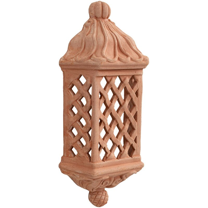 Lámpara de pared para colgar en terracota 100% Made in Italy Hecho a mano