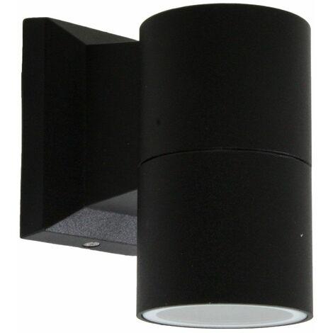 Lámpara de pared para exteriores ALU destaca la lámpara de jardín DOWN negra en un conjunto que incluye un LED de iluminación