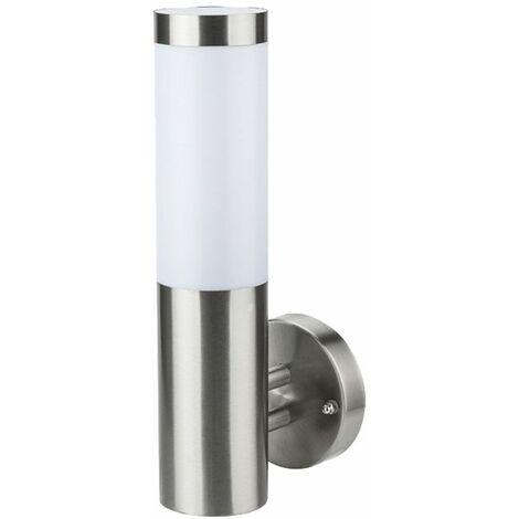 Lámpara de pared para exteriores aplicación de control de voz de balcón de jardín de acero inoxidable en un conjunto que incluye un iluminante LED RGB