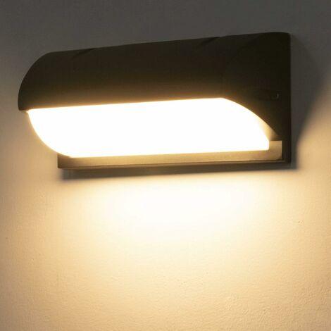 Lámpara de pared para exteriores LangRay de 18 W con sensor de movimiento, luz de pared para exteriores blanca cálida de 3000 K, lámpara de radar IP65, luz de pared para exteriores, para calles, jardines, patios, garajes