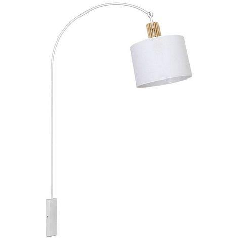 Lampara de Pared Pegasus - Applique - Blanco en Metal, Madera, Tela, 95 x 35 x 163 cm, 1 x E27, 60W