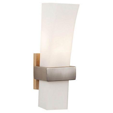 Lampara de Pared Sedir Apliques - Cromo en Vidrio, Metal, 10 x 11 x 30 cm, 1 x E27, Max 40W