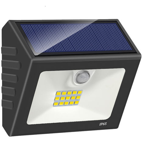 Lampara de pared solar, induccion infrarroja humana adoptada, 3.2V 0.8W 15LED