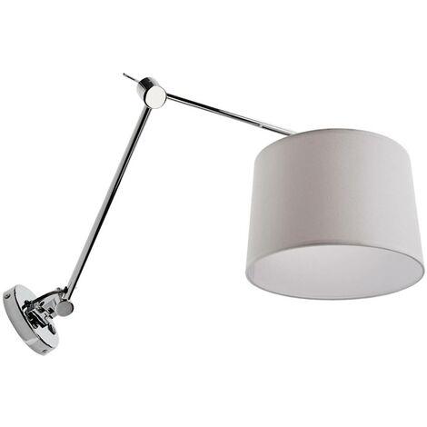Lámpara de pared textil Jolla, brazo e interruptor