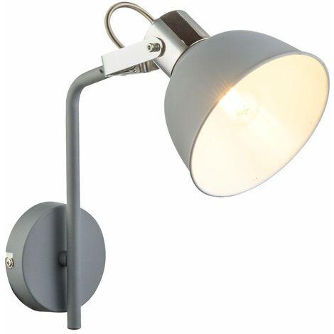 Lámpara de pared vintage salón luz gris Spotlight ajustable en conjunto con bombillas LED
