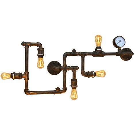 """Lámpara de pared vintage tubería """"COPPER"""""""