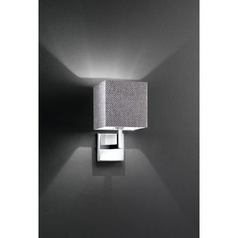 Lámpara de pared y pantalla de tela crom PERENZ 6062