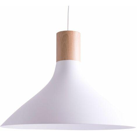 Lámpara de péndulo salón comedor iluminación de madera lámpara de techo colgante blanco  Philips 4095431PN