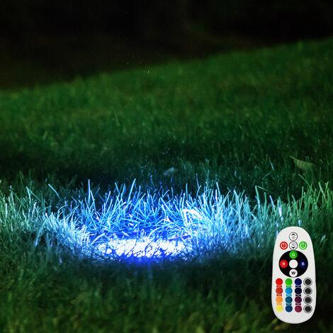 lámpara de pie a distancia al aire libre Jardín regulable proyector incluido en el conjunto. RGB lámparas LED