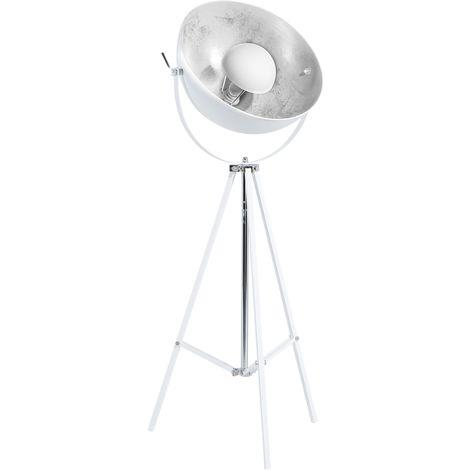Lámpara de pie blanco/plateado THAMES II