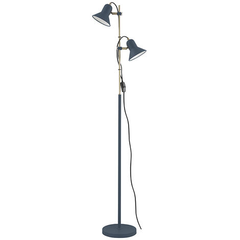 Lámpara de pie Boston 2xE27 azul 153x31,5 cm. (F-Bright 1950911-AZ)