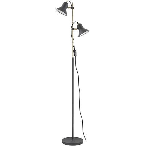 Lámpara de pie Boston 2xE27 negra 153x31,5 cm. (F-Bright 1950911-N)