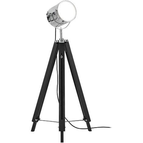 Lámpara de pie con foco de cine para decoración vintage - E27 - cromo-diseño industrial